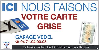 carte grise garage agréé Garage Vedel   Mécanique, Dépannage, Spécialiste G.P.L., Cartes